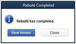 Rebuild has completed - Screenshot