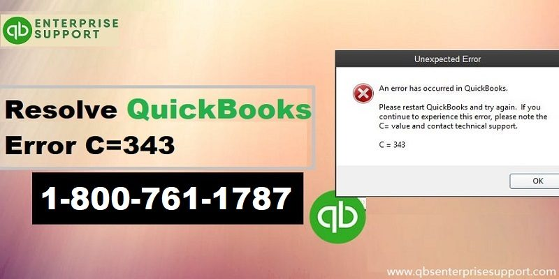 Resolve QuickBooks Error C=343 when opening QuickBooks desktop - Featuring Image