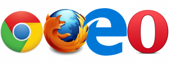 Use different web browsers - Screenshot