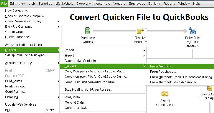 Convert from Quicken to QuickBooks Desktop - Screenshot Image
