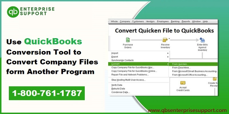 Use QuickBooks conversion tool to convert data files from another program - Featuring Image