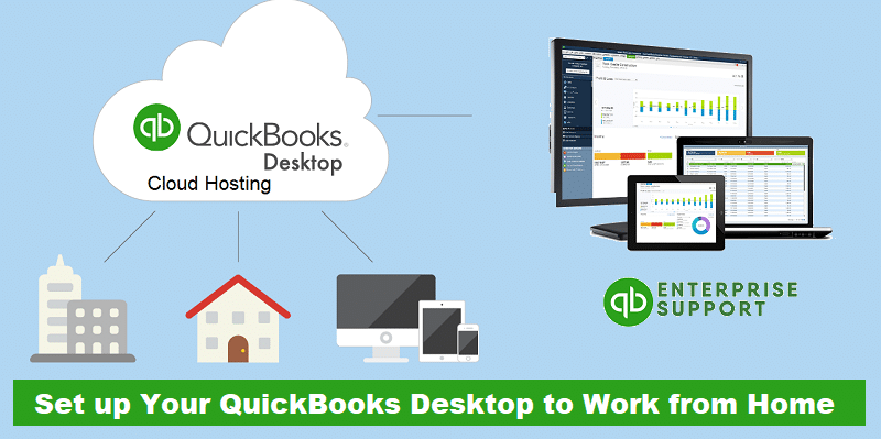 Learn how to use your QuickBooks Desktop from home computer and your office computer - Featuring Image