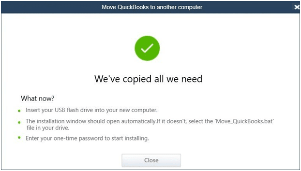 Move QuickBooks to another computer - Screenshot Image 1