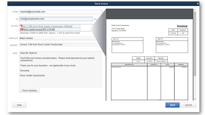 PDF Invoice and attachment review option - Screenshot Image 1