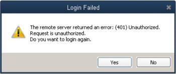 QuickBooks Error 401 - Screenshot Image