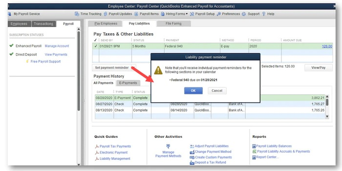 payroll liability reminders-screenshot