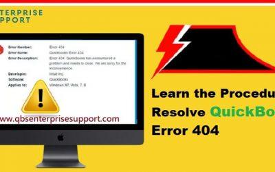 How to Resolve QuickBooks Error Code 404?