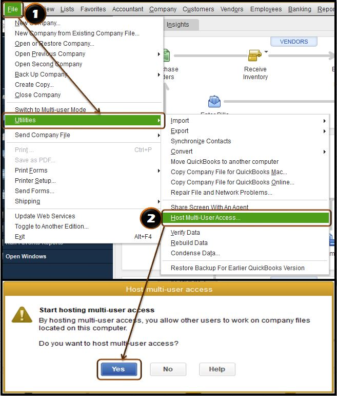 Host multi-user access - Screenshot Image