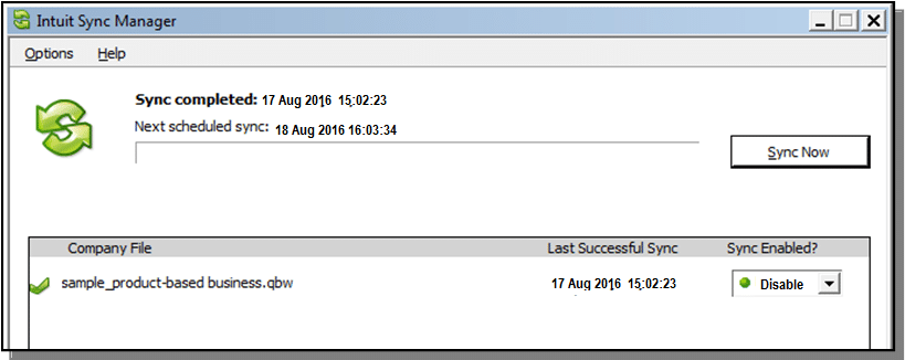 Intuit Sync Manager - Screenshot Image