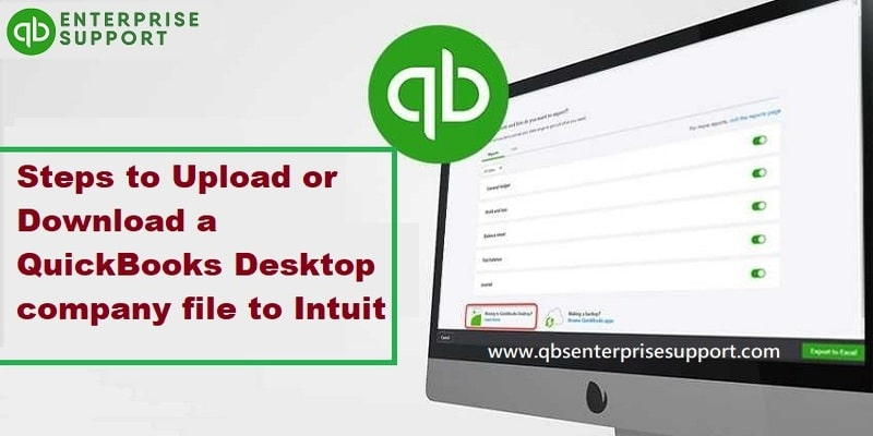 How to Upload or Download a QuickBooks Desktop Company File to Intuit?
