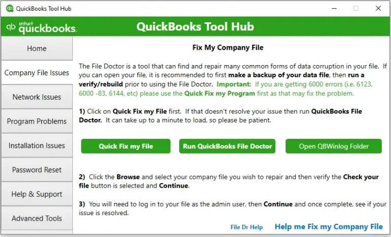 Company file Tool hub-screenshot