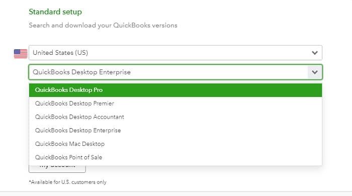 Find the version of QuickBooks - Screenshot Image