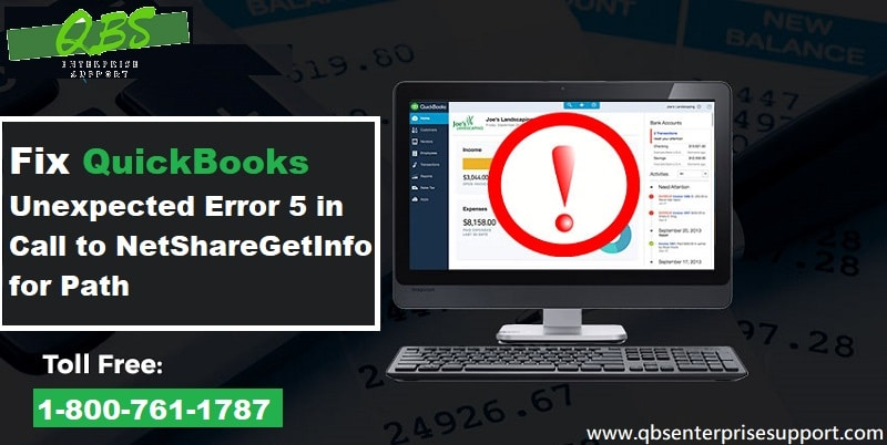 Fix QuickBooks Unexpected Error 5 in Call to NetShareGetInfo for Path - Featuring Image