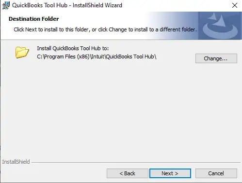 Installation of QuickBooks tool hub - Screenshot Image 3