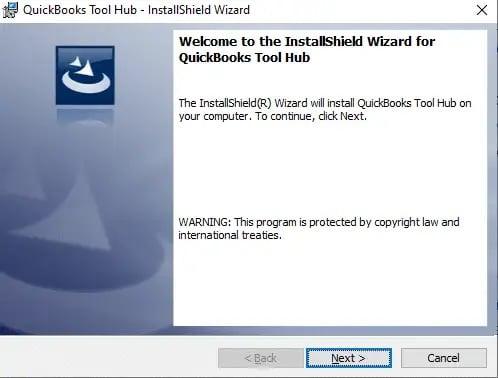 Installation of QuickBooks tool hub - Screenshot Image