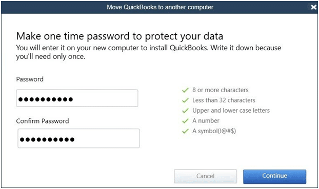 Move QuickBooks to another computer - Screenshot Image 2