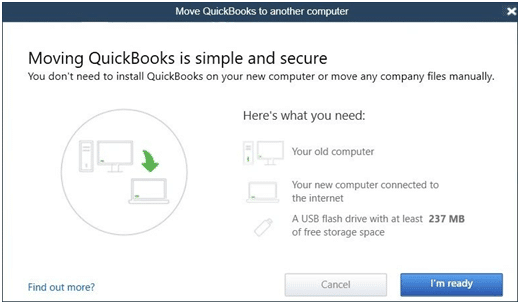 Move QuickBooks to another computer - Screenshot Image