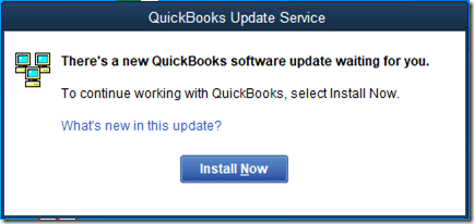 QuickBooks desktop and install updates - Screenshot Image