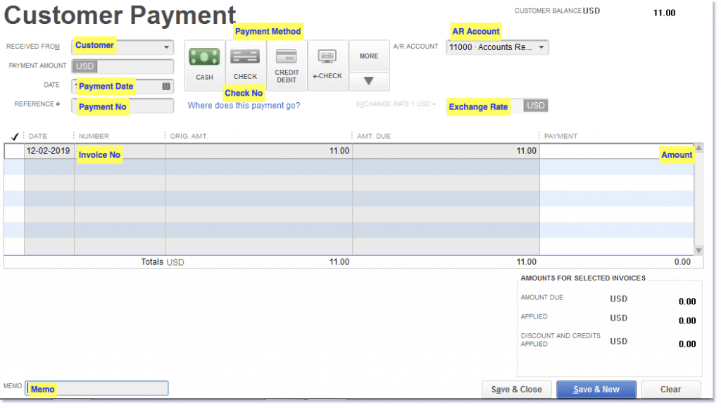 Close out the unpaid invoices - Screenshot Image