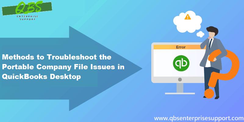 Fix QuickBooks desktop cant create or open a portable company file error - Featuring Image