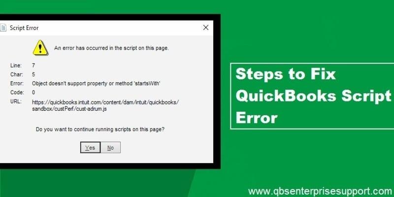 How to Fix Script Error When Accessing QuickBooks - Featured Image
