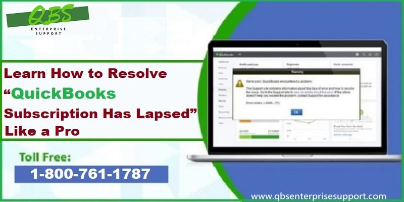 Methods to Fix QuickBooks subscription has lapsed error like a Pro - Featuring Image