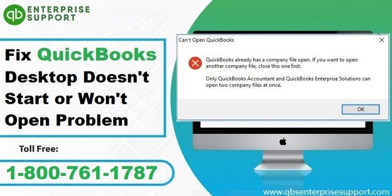 Resolve QuickBooks Desktop Doesn't Start or Wont Open or Not Responding Problem - Featured Image