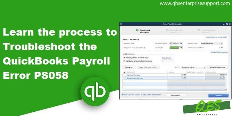 Resolve QuickBooks Payroll Error PS058 (Update Download or Installation Failed) - Screenshot Image