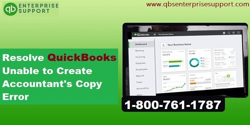 Solution of QuickBooks Unable to Create Accountants Copy Problem - Featured Image
