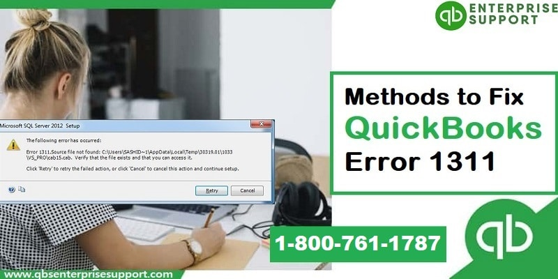 Troubleshooting of QuickBooks error code 1311 at home - Featured Image
