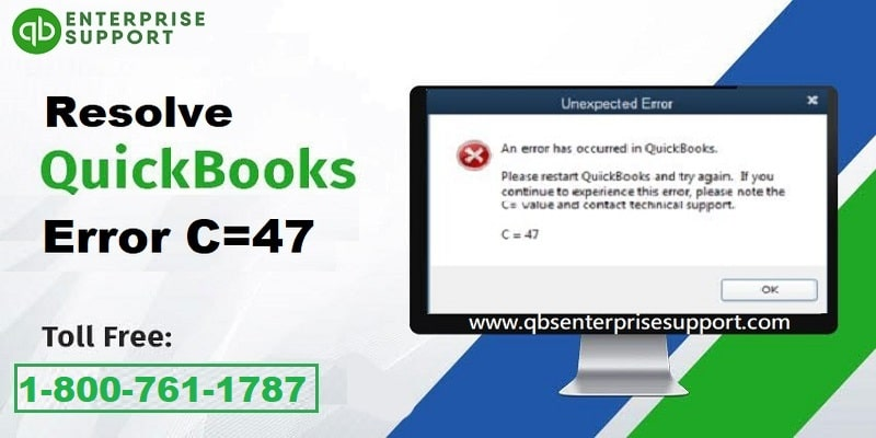 What are the methods to troubleshoot the QuickBooks error C=47 - Featuring Image