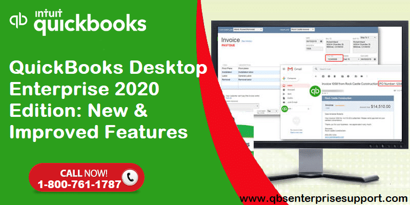 What's New and Improved Features in QuickBooks Desktop Enterprise 2020 - Featured Image