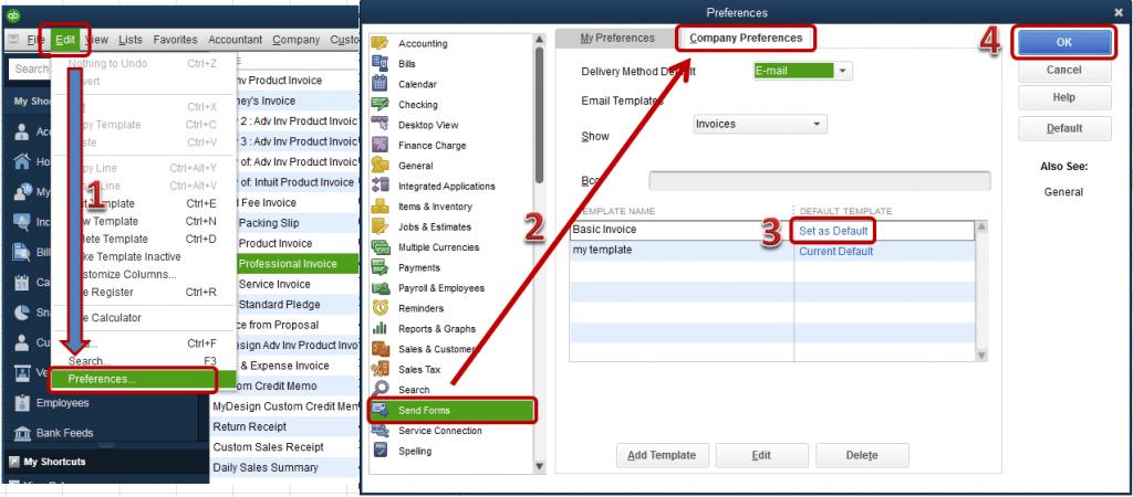 Company preferences - Screenshot Image