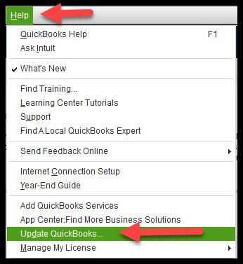 Update QuickBooks desktop to Latest - Image